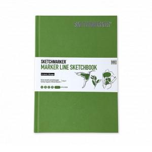 Скетчбук SketchMarker А5 44 листов, 160 г, зеленое яблоко, MLHSM / APGR