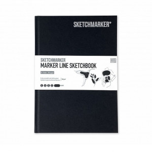 Скетчбук SketchMarker А5 44 листов, 160 г, черный, MLHSM / BLACK