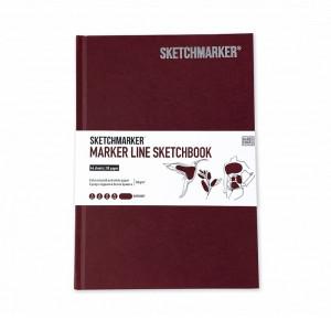 Скетчбук SketchMarker А5 44 листов, 160 г, бургунди, MLHSM / BURG