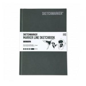 Скетчбук SketchMarker А5 44 листов, 160 г, угля, MLHSM / CHARC