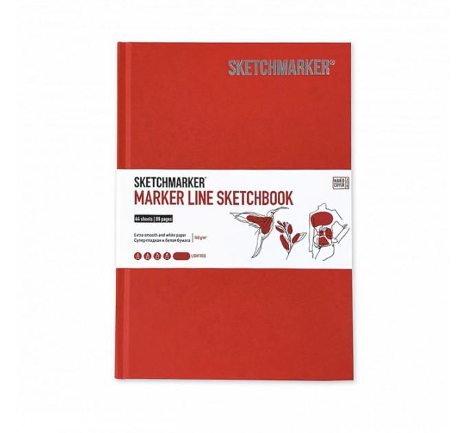 Скетчбук SketchMarker А5 44 листов, 160 г, светло-красный, MLHSM / LRED