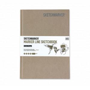 Скетчбук SketchMarker А5 44 листов, 160 г, песок, MLHSM / SAND