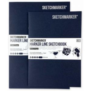 Скетчбук SketchMarker В5 16 листов, 160 г, синий, MLSM / IMBLUE