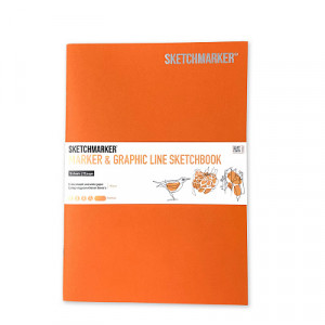 Скетчбук SketchMarker В5 16 листов, 180 г, холле, MGLSM / HOLL