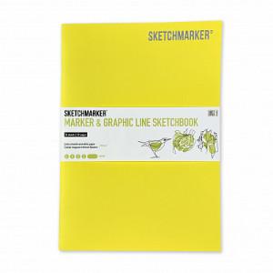 Скетчбук SketchMarker В5 16 листов, 180 г, лимон, MGLSM / LIMO