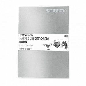 Скетчбук SketchMarker А5 16 листов, 160 г, серебряный, MLSSM / SILV