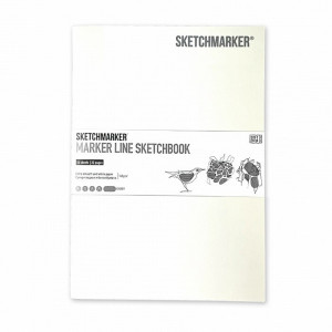 Скетчбук SketchMarker А5 16 листов, 160 г, белый, MLSSM / WHITE