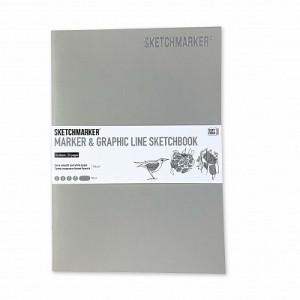 Скетчбук SketchMarker В5 16 листов, 180 г, перламутровый, MGLSM / PERL