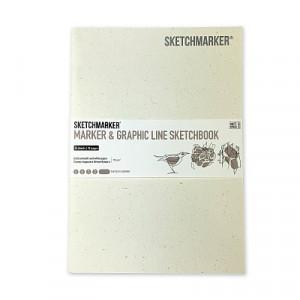 Скетчбук SketchMarker В5 16 листов, 180 г, солнечный свет, MGLSM / PSUN