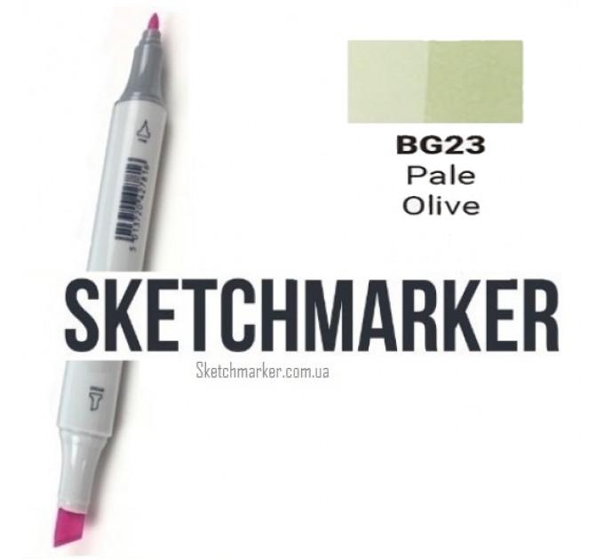 Маркер Sketchmarker Pale Olive (Бледно оливковый), SM-BG023