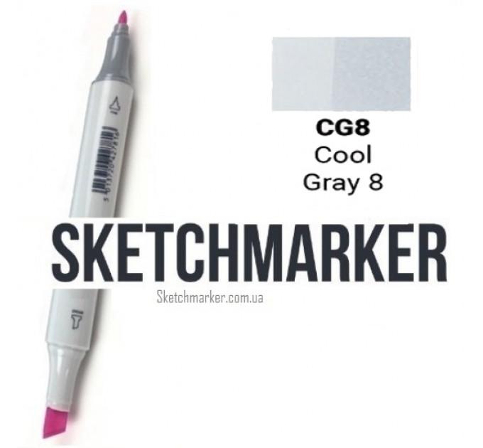 Маркер Sketchmarker Cool Gray 8 (Прохладный серый 8), SM-CG08