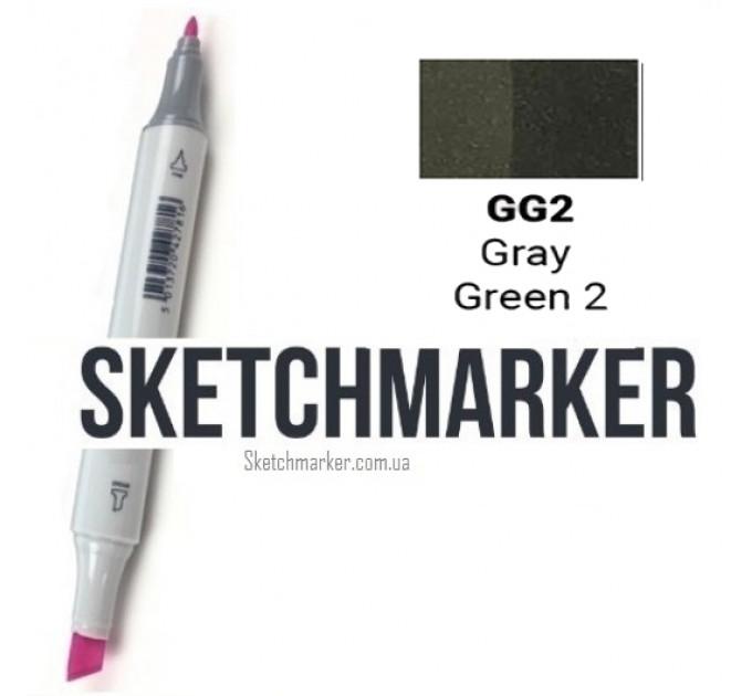 Маркер Sketchmarker Gray Green 2 (Серо-зелёный 2), SM-GG02