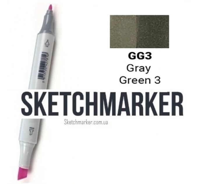 Маркер Sketchmarker Gray Green 3 (Серо зелёный 3), SM-GG03