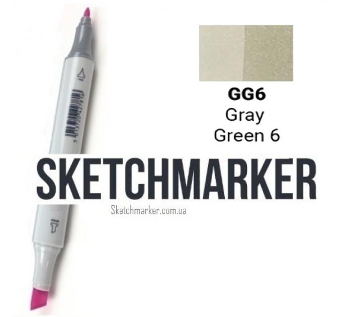 Маркер Sketchmarker Gray Green 6 (Серо-зелёный 6), SM-GG06