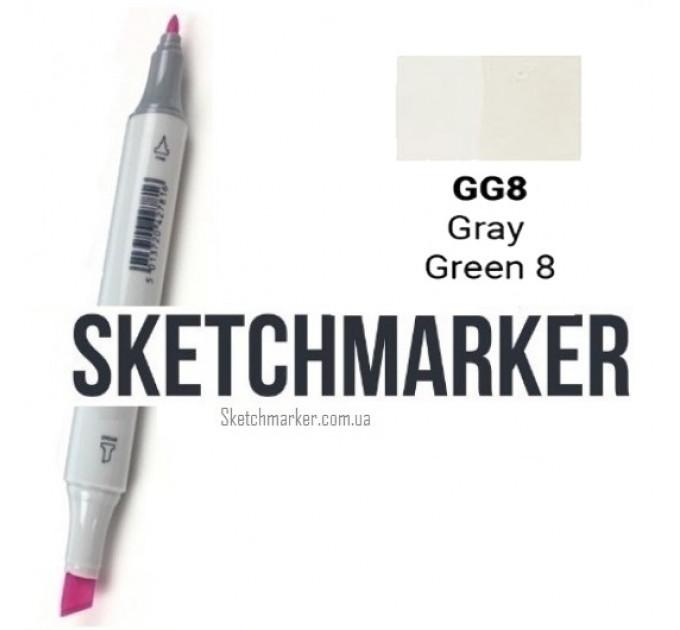 Маркер Sketchmarker Gray Green 8 (Серо-зелёный 8), SM-GG08