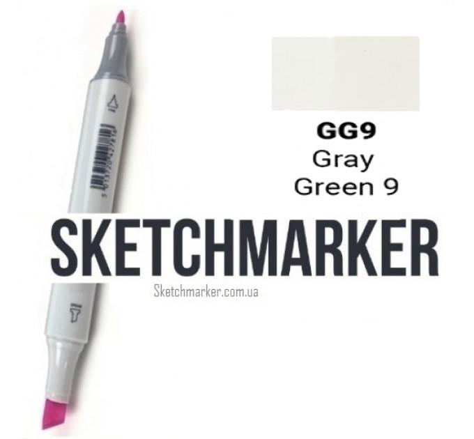 Маркер Sketchmarker Gray Green 9 (Серо-зелёный 9), SM-GG09
