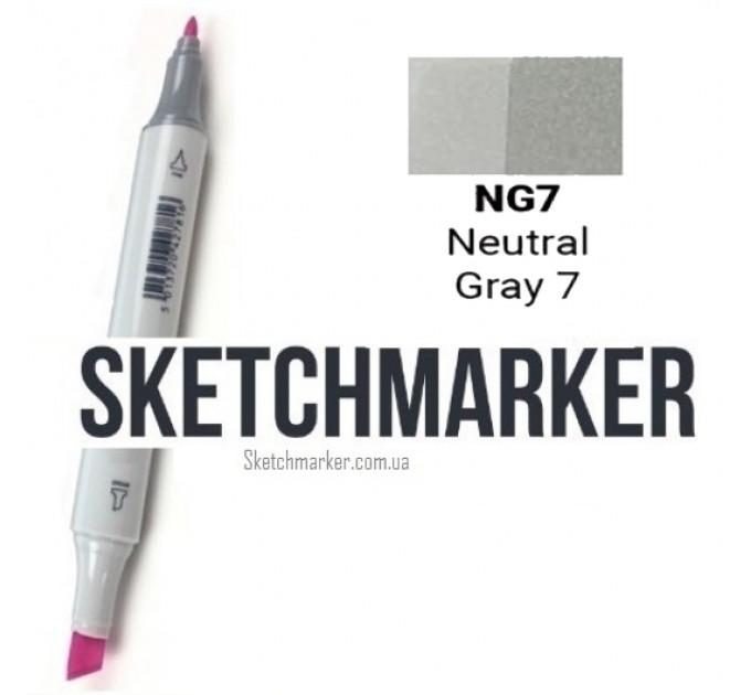 Маркер Sketchmarker Поштучно SKETCHMARKER (2 пера: долото і тонке, 389 відтінки) #bbbbb9, Цвет: Neutral Gray 7 (Нейтральный серый 7), SM-NG07