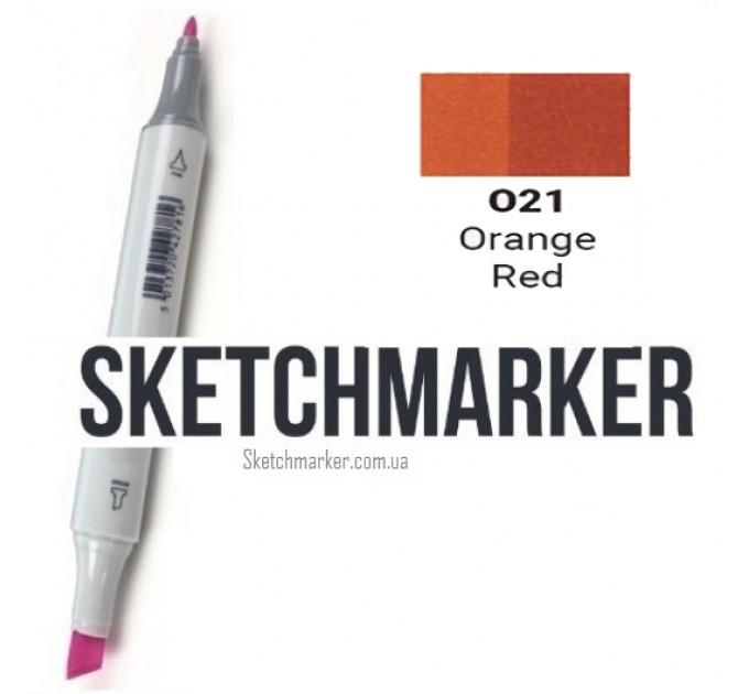 Маркер Sketchmarker Orange Red (Оранжево-красный), SM-O021