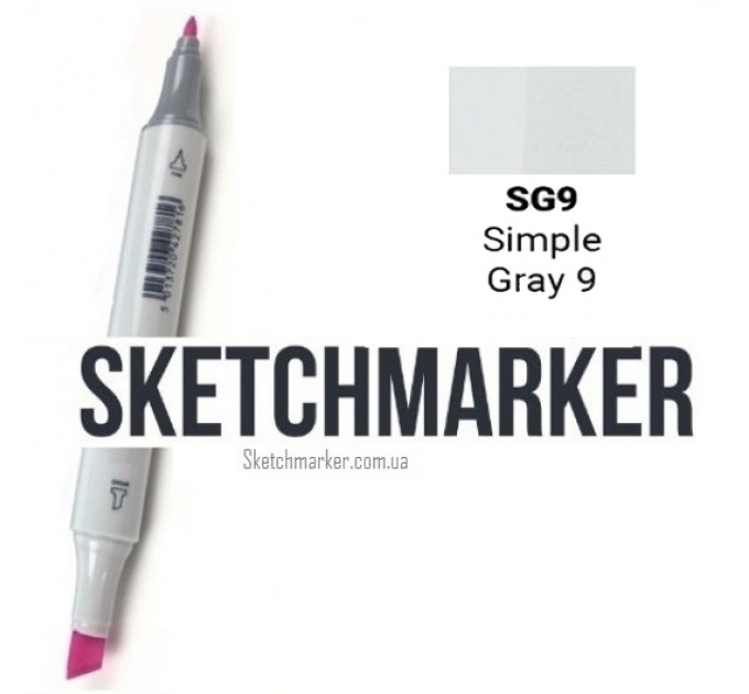 Маркер Sketchmarker Simple Gray 9 (Простой серый 9), SM-SG09