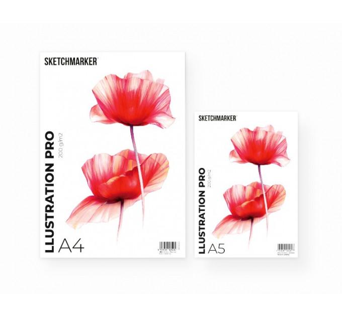 Альбом для маркеров A4 SKETCHMARKER ILLUSTRATION PRO PAD 200gsm (A4, 30 pages, 200gsm)